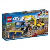 LEGO City Barredora y Excavadora