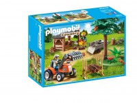 Playmobil Leñador con Tractor