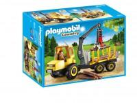 Playmobil Transportador de Leña con Grúa