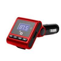 Transmisor FM coche MP3 Sunstech FMT120 Rojo